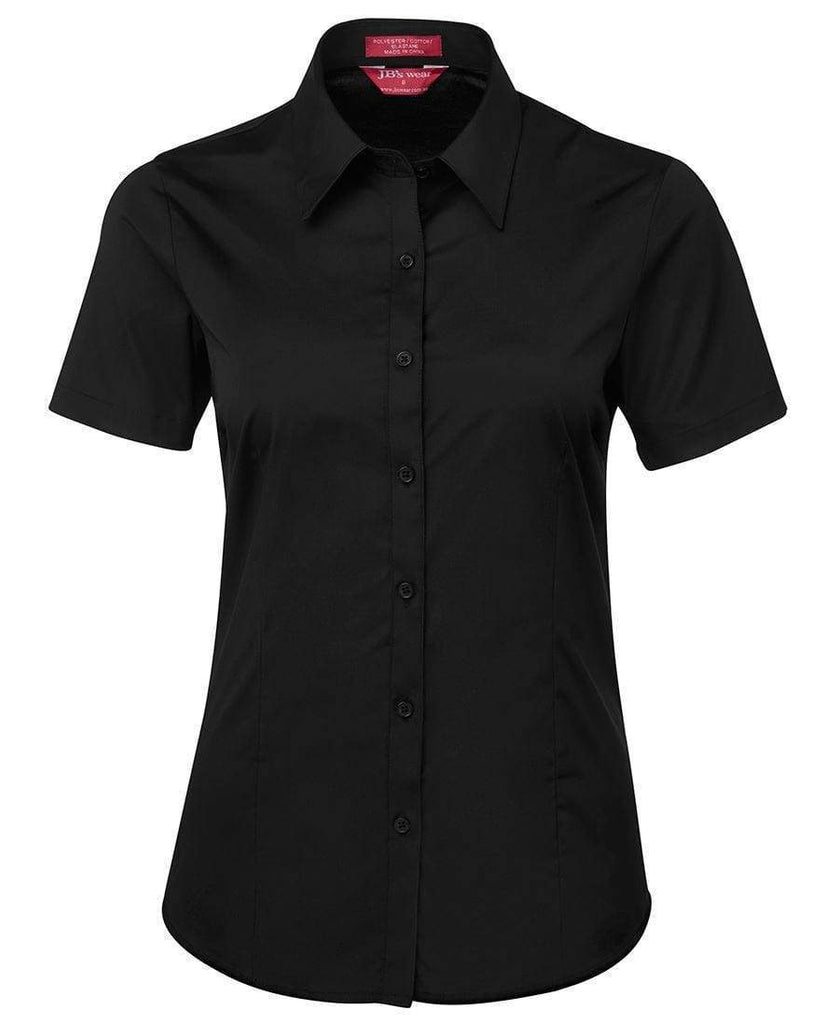 Jb's Wear Corporate Wear Black / 6 Jb's Ladies Urban S/s Poplin Shirt 4PLUS