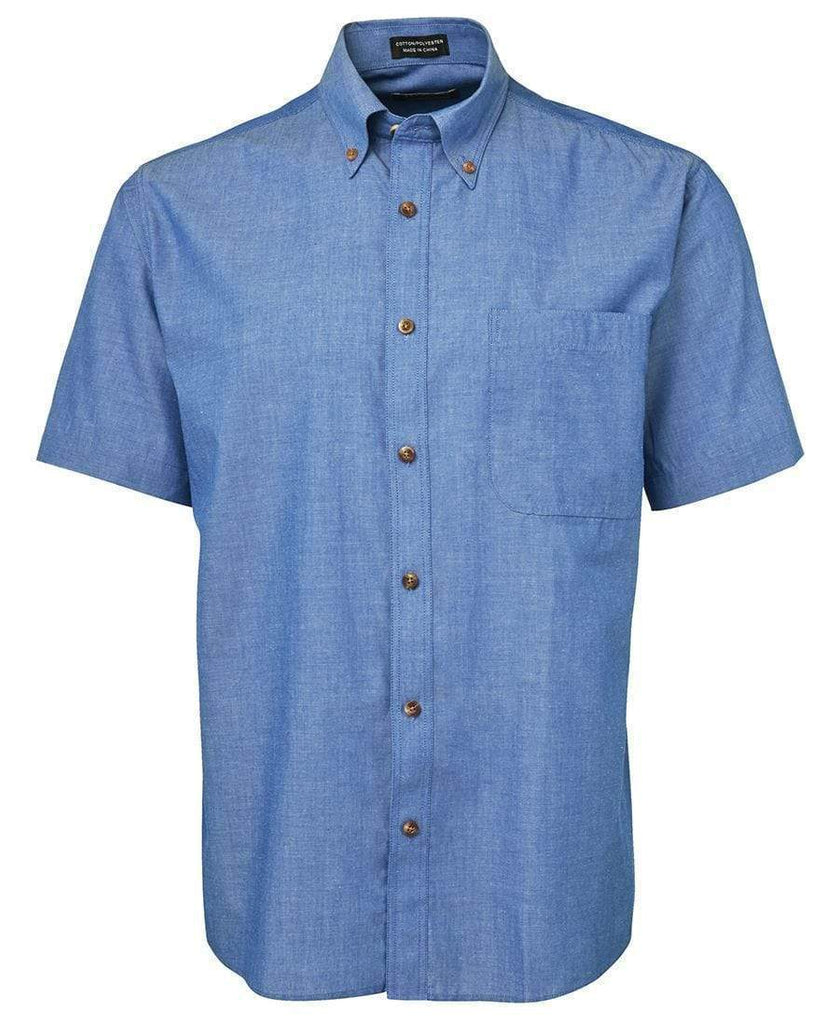 Jb's Wear Corporate Wear Indigo / S JB'S Short Sleeve Indigo Chambray Shirt 4ICS
