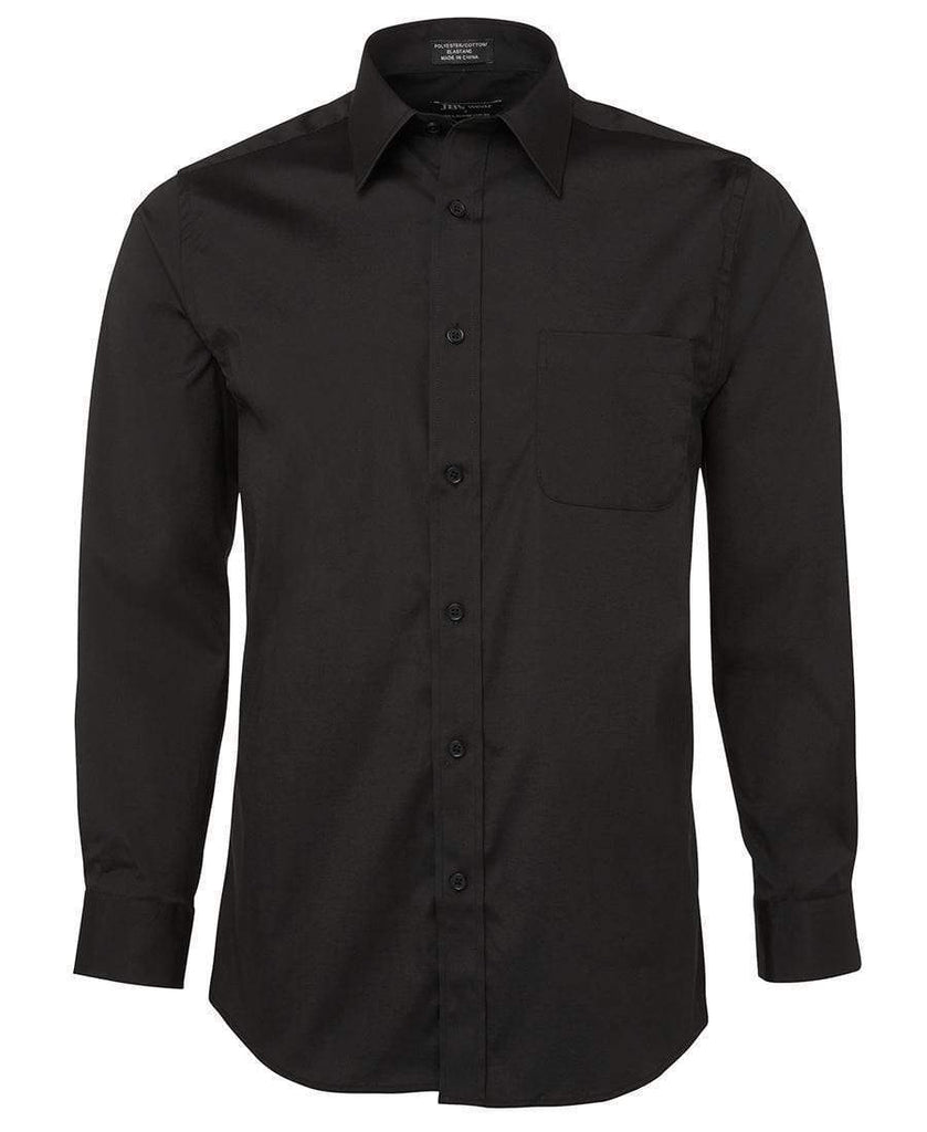 Jb's Wear Corporate Wear Black / S JB'S Urban Long Sleeve Poplin Shirt 4PUL