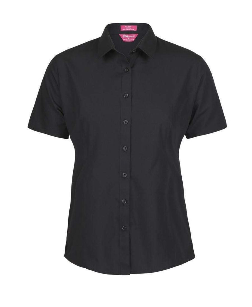 Jb's Wear Corporate Wear Black / 4 JB'S Women's Classic Short Sleeve Poplin Shirt 4PS1S