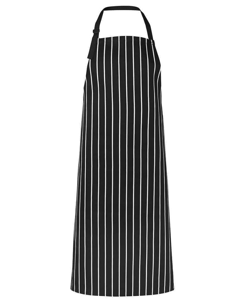 Jb's Wear Hospitality & Chefwear Black/White / BIB 86 x 93cm JB'S Bib Striped Apron Without Pocket 5BSNP