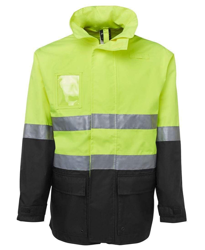 Jb's Wear Work Wear Lime/Black / S JB'S Hi-Vis Long Line Jacket 6DNLL