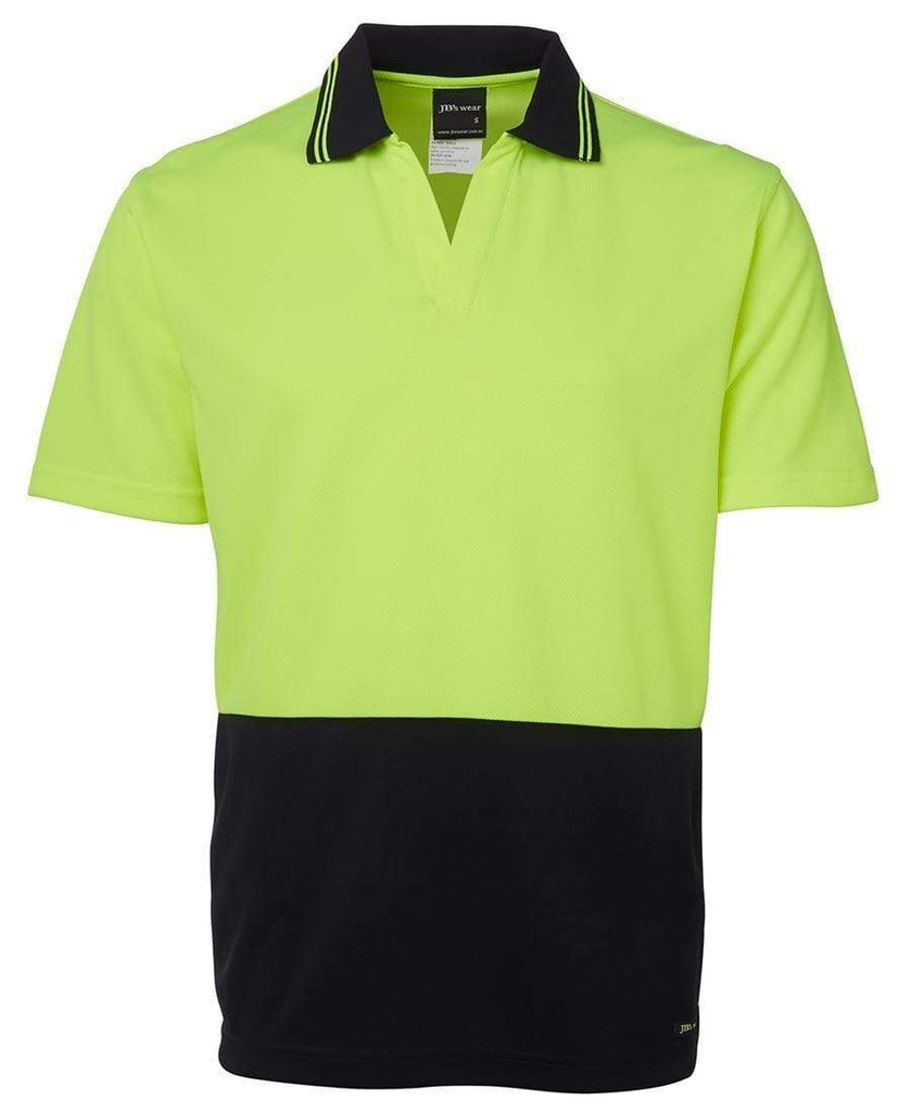 Jb's Wear Work Wear JB'S Hi-Vis Short Sleeve Non Button Polo 6HNB