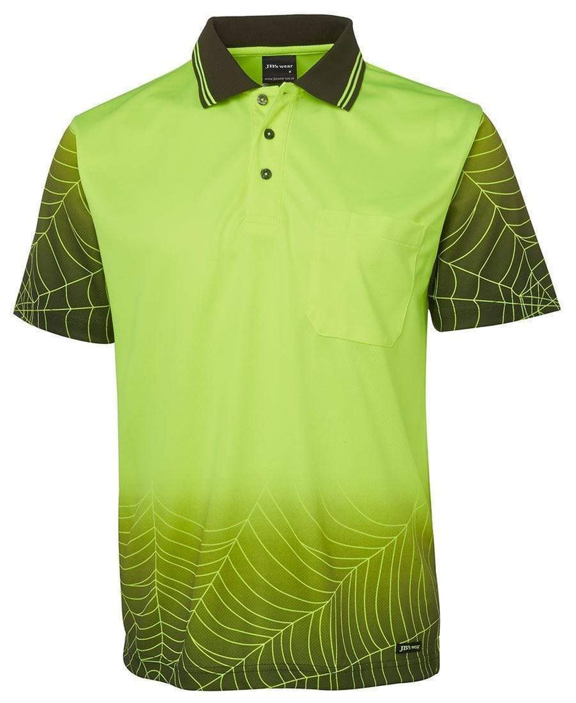 Jb's Wear Work Wear Lime/Black / XS JB'S Hi-Vis Short Sleeve Web Polo 6WPS