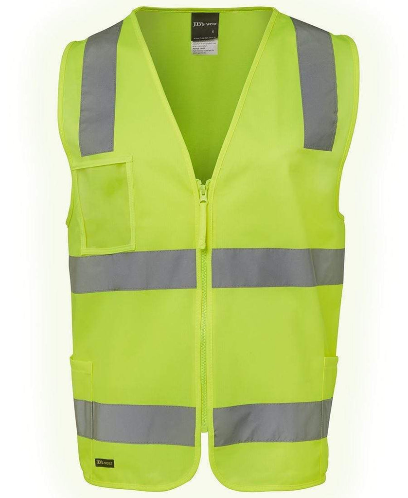 Jb's Wear Work Wear JB'S Hi-Vis Zip Safety Vest 6DNSZ