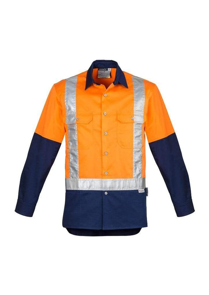 Syzmik Work Wear SYZMIK Men's Hi-Vis Spliced Shoulder Taped Industrial Shirt ZW124