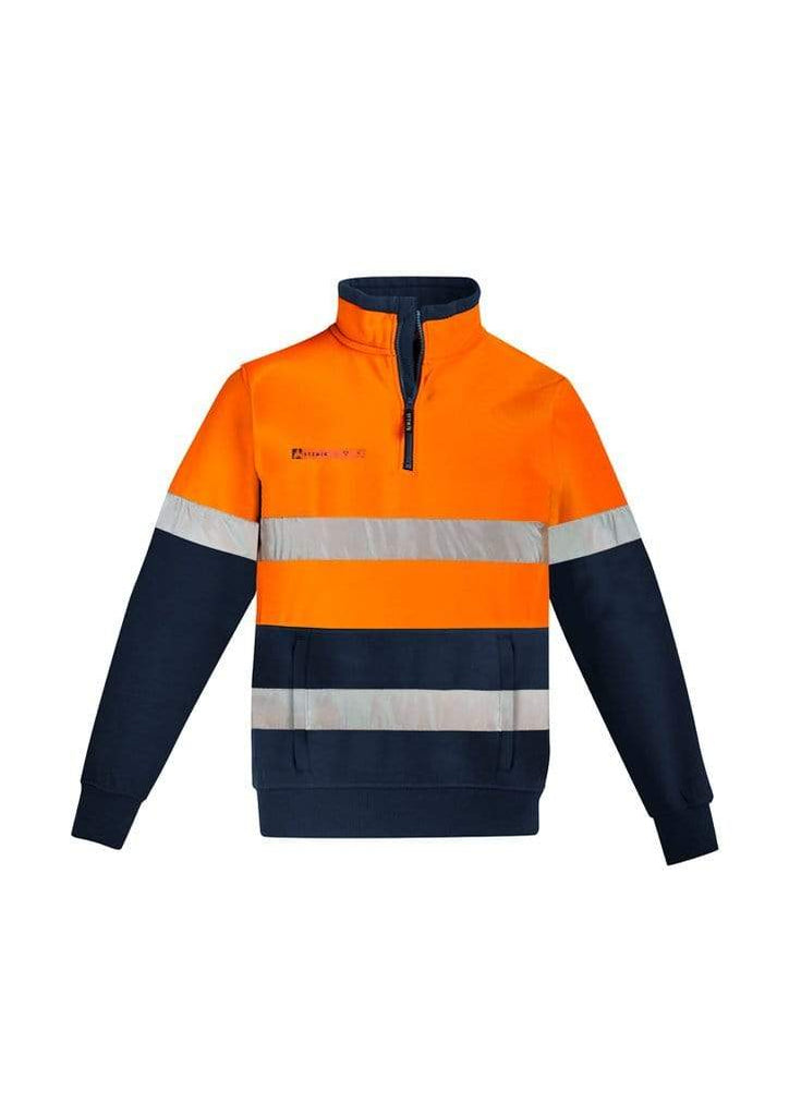 Syzmik Work Wear SYZMIK men's orange flame HRC 2 taped 1/4 zip brushed fleece ZT150