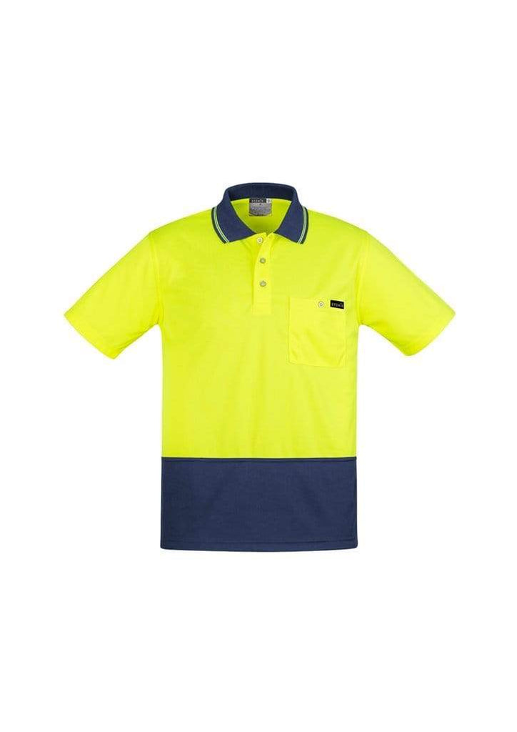 Syzmik Work Wear SYZMIK MENS COMFORT BACK S/S POLO ZH415