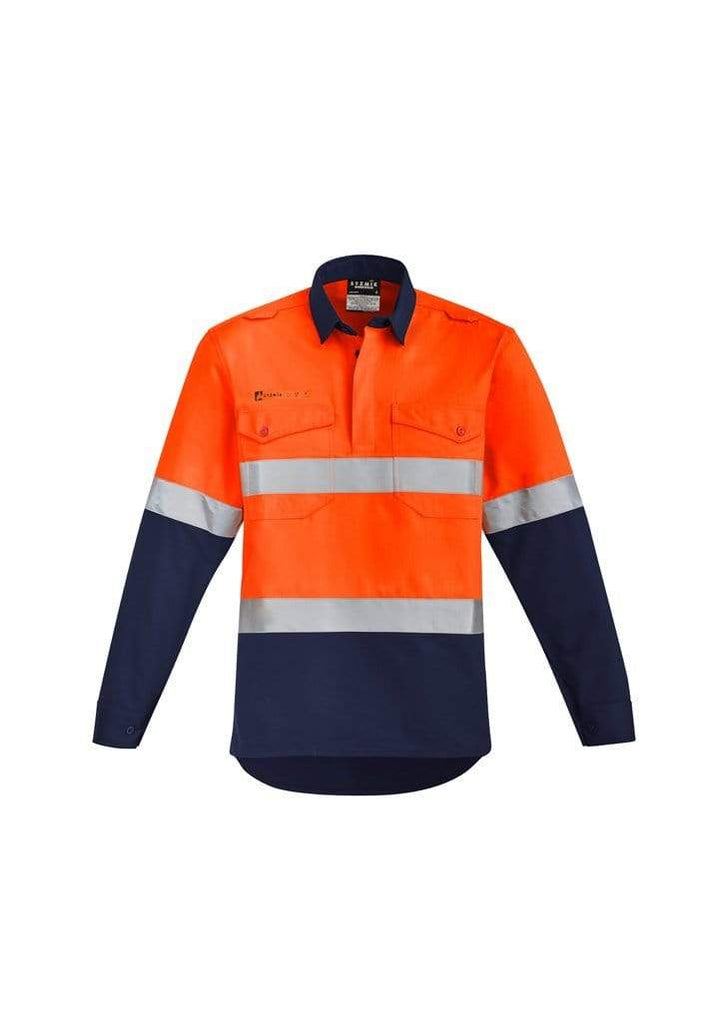 Syzmik Work Wear Orange/Navy / 7XL SYZMIK orange flame hrc 2 hoop taped closed front spliced shirt ZW143