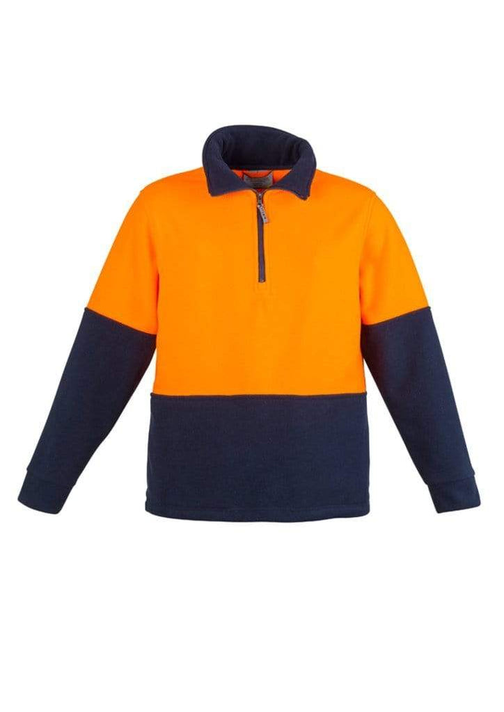 Syzmik Work Wear SYZMIK Unisex Hi-Vis Half Zip Fleece Jumper ZT460