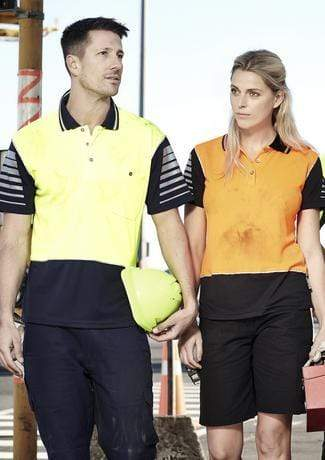 Syzmik Work Wear SYZMIK Women's Hi Vis Zone Polo ZHL236