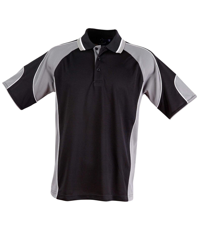 Winning Spirit Casual Wear Black/Ash / XS Winning Spirit Alliance Polo Men's  Ps61