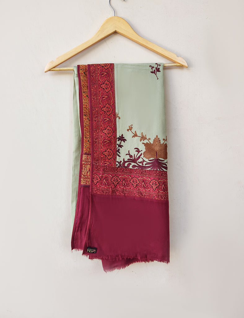 LSM-0158 SHAWL ( RED )