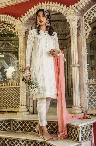 3 Piece Embroidered Lawn Chikankari