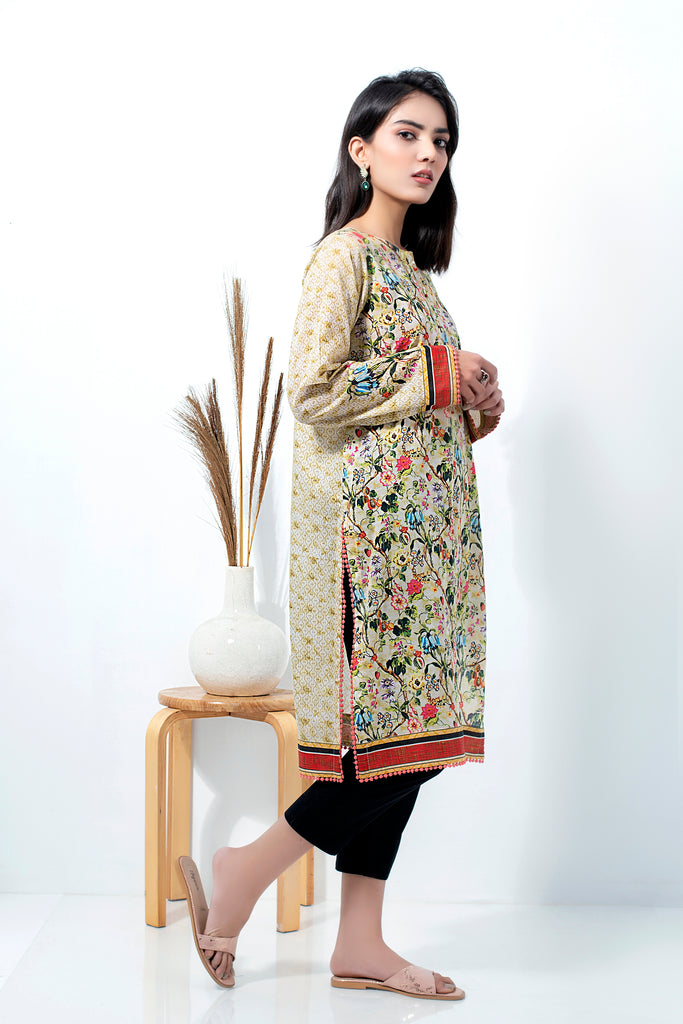 1 Piece Unstitched Printed Lawn