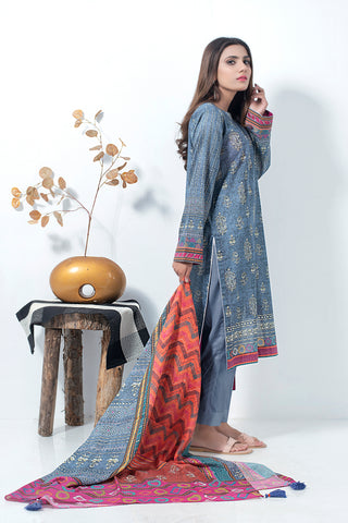 3 Piece Unstitched Printed Lawn