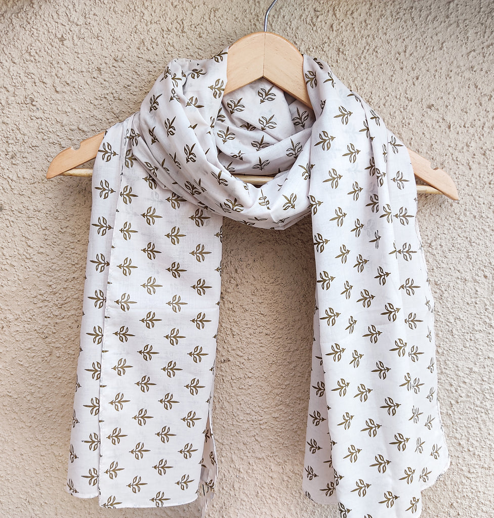 1 Piece Block Printed Scarf