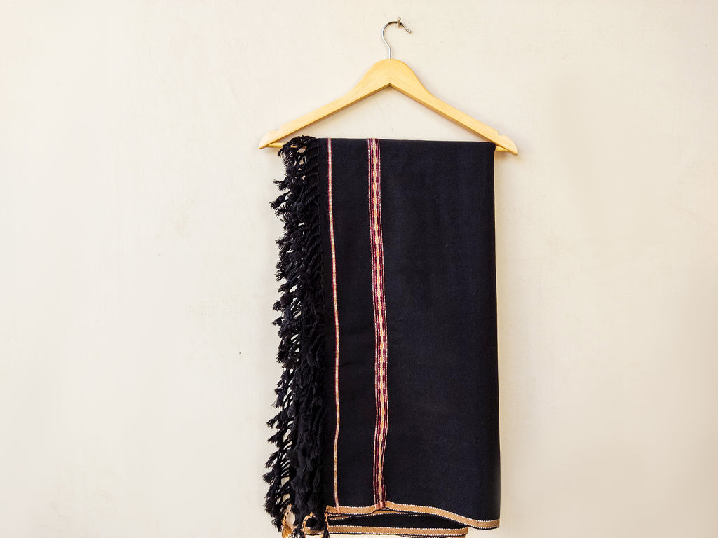 LSM-0163 SHAWL (BLACK 2)