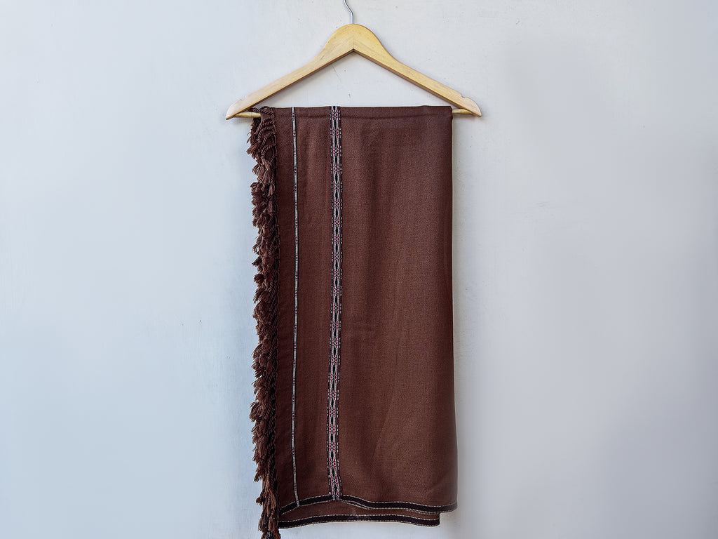 LSM-0163 SHAWL (BROWN)