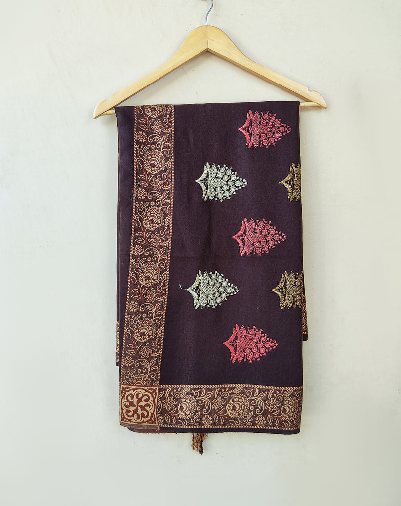 LSM-0158 SHAWL ( BROWN )