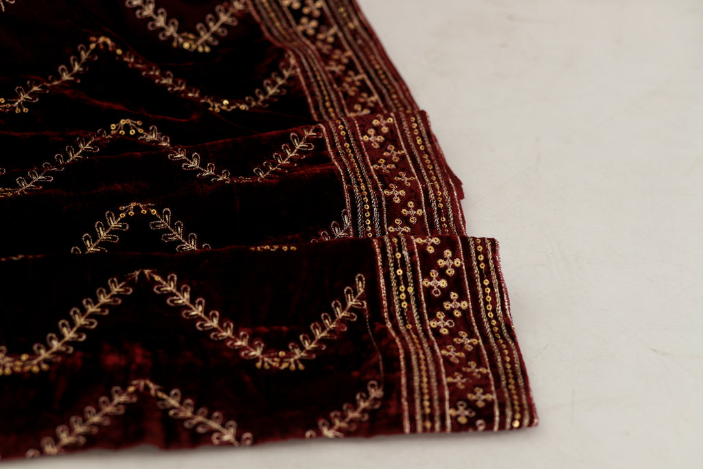 LSM-0165 SHAWL ( MEHROON )