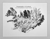 Topography of Iceland