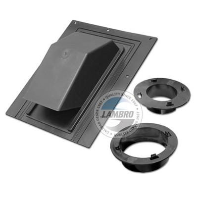 "Model 3540 Black Plastic Damper Roof Cap (3"" and 4"" collars) - Express Insulation"