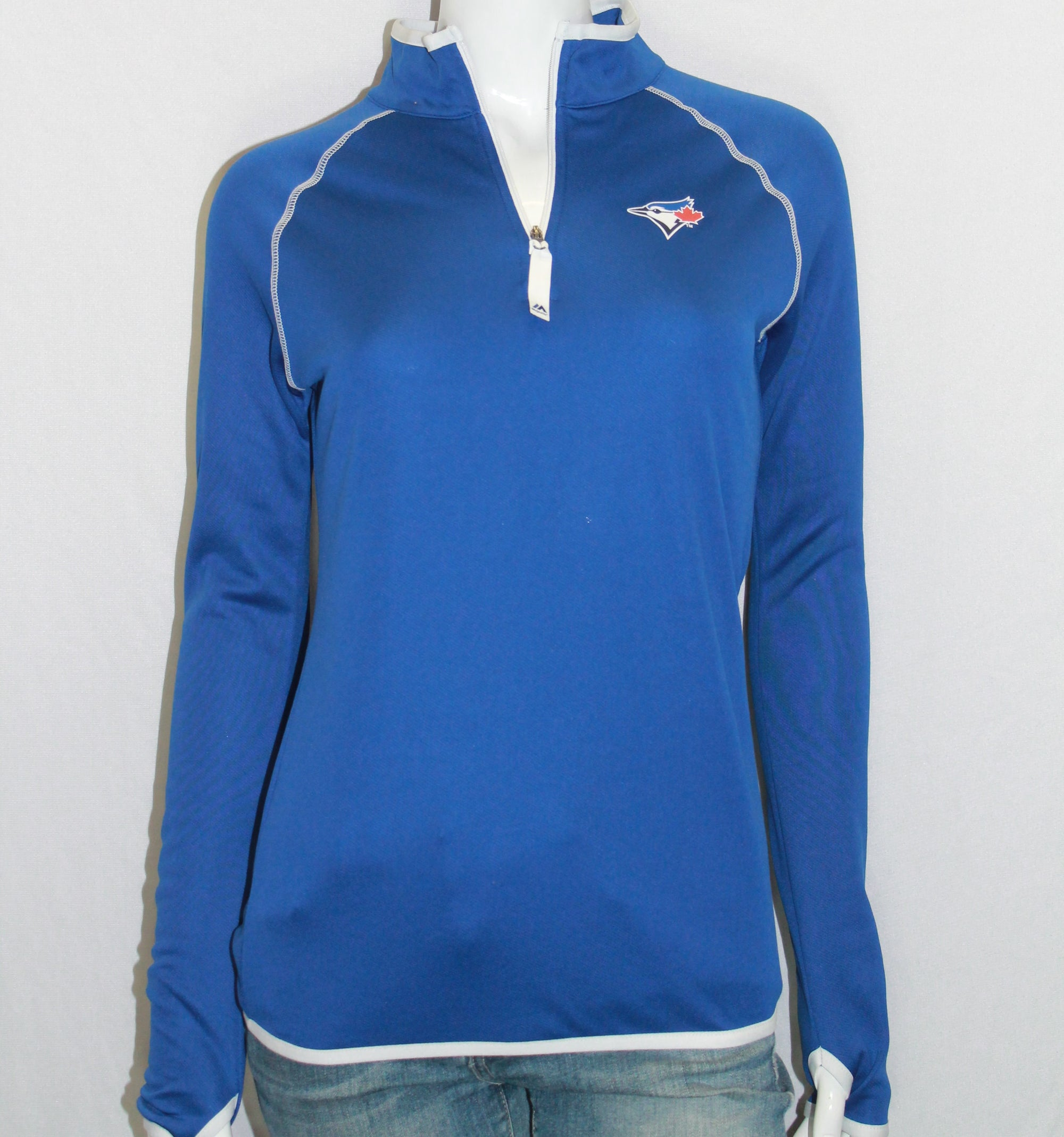 MLB Toronto Blue Jays Womens 1/4 Zip Pullover