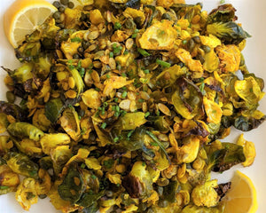 Turmeric Brussels Sprout Chips