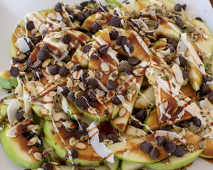 Caramel & Chocolate Apple Nachos