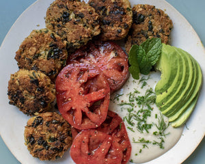 Lemony Kale Pumpkin Seed Falafel Patties