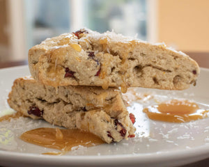 Orange, Cranberry & Seed Scones