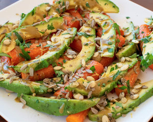 Roasted Carrots & Avocado Salad