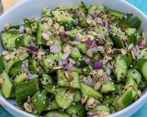 Smashed Cucumber Salad