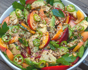 Stonefruit, Cucumber & Avocado Salad