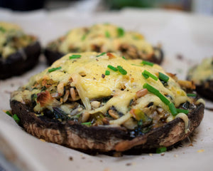 Stuffed Portobello Mushrooms Go Raw