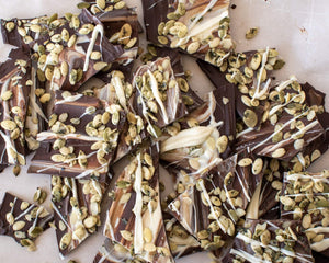 Swirled Chocolate & Seed Bark
