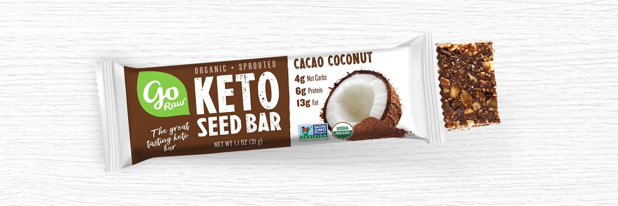 Cacao Coconut Sprouted Keto Bar