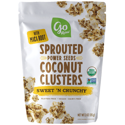 Sweet 'n Crunchy Sprouted Seed Coconut Clusters - 12 Bags, 3oz Each
