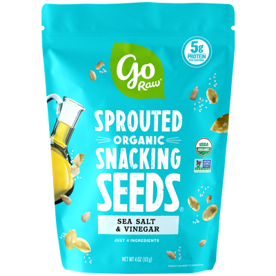 Go Raw Sea Salt & Vinegar Sprouted Snacking Seeds