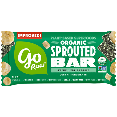 Go Raw Spirulina Sesame Sprouted Bars