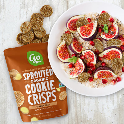 Ginger Snap Sprouted Cookie Crisps - 12 Bags, 3oz Each