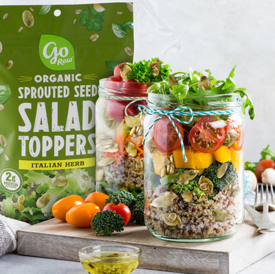 Italian Herb Sprouted Salad Toppers - 10 Bags, 4oz Each