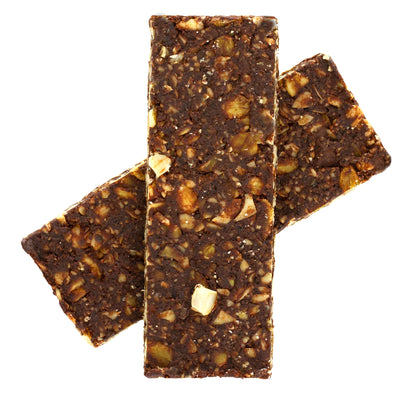 Dark Chocolate Sea Salt Sprouted Trail Mix Bars - Box of 12 Bars