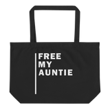 Free My Auntie Large Organic Tote Bag