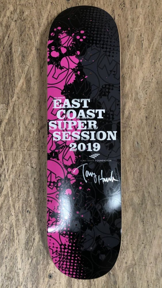 East Coast Super Session Limited Edition Skateboard Deck Signed by Tony Hawk
