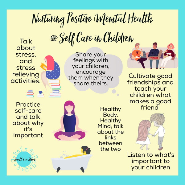 Positive self care children mental health small eco steps