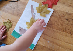 Hedgehog leaf craft