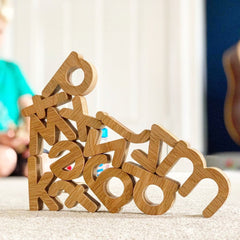 Reel Wood home learning literacy letters sustainable wooden toys