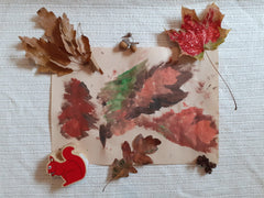 Leaf painting stamp toddler